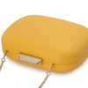 Mila Rounded Simple Yellow Clutch Detail View
