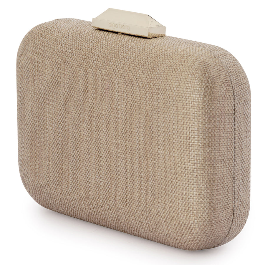 HAILEY Subtle Metallic Woven Clutch