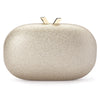 Calli Glitter Oval Gold Clutch Front View