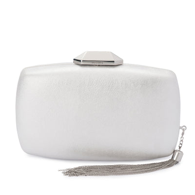 NALA Metallic Metal Tassel Clutch Olga Berg Bag