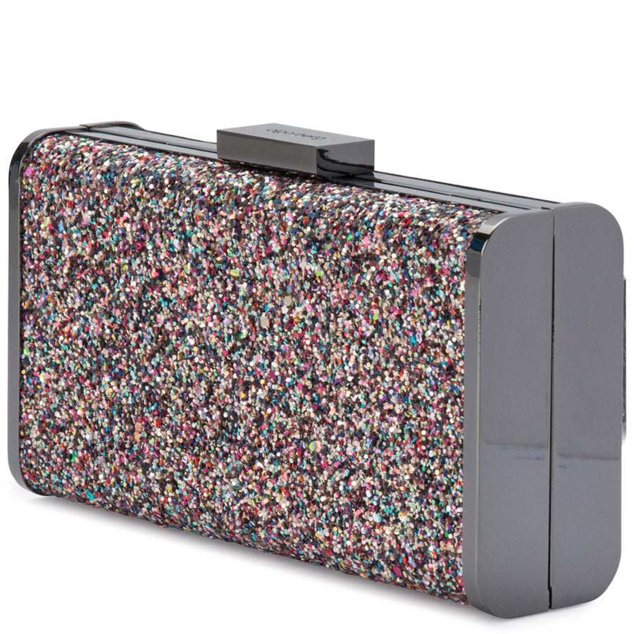 JORDANA Glitter and Suede Clutch Olga Berg Bag