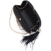 JENNA Feather Tassel Clutch
