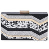 Olga Berg Camilla Glitter Acrylic Clutch evening bag in Multi colourway showing back view