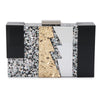 Dakota Lightening Acrylic Glitter Clutch Front View