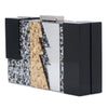 Dakota Lightening Acrylic Glitter Clutch Side View