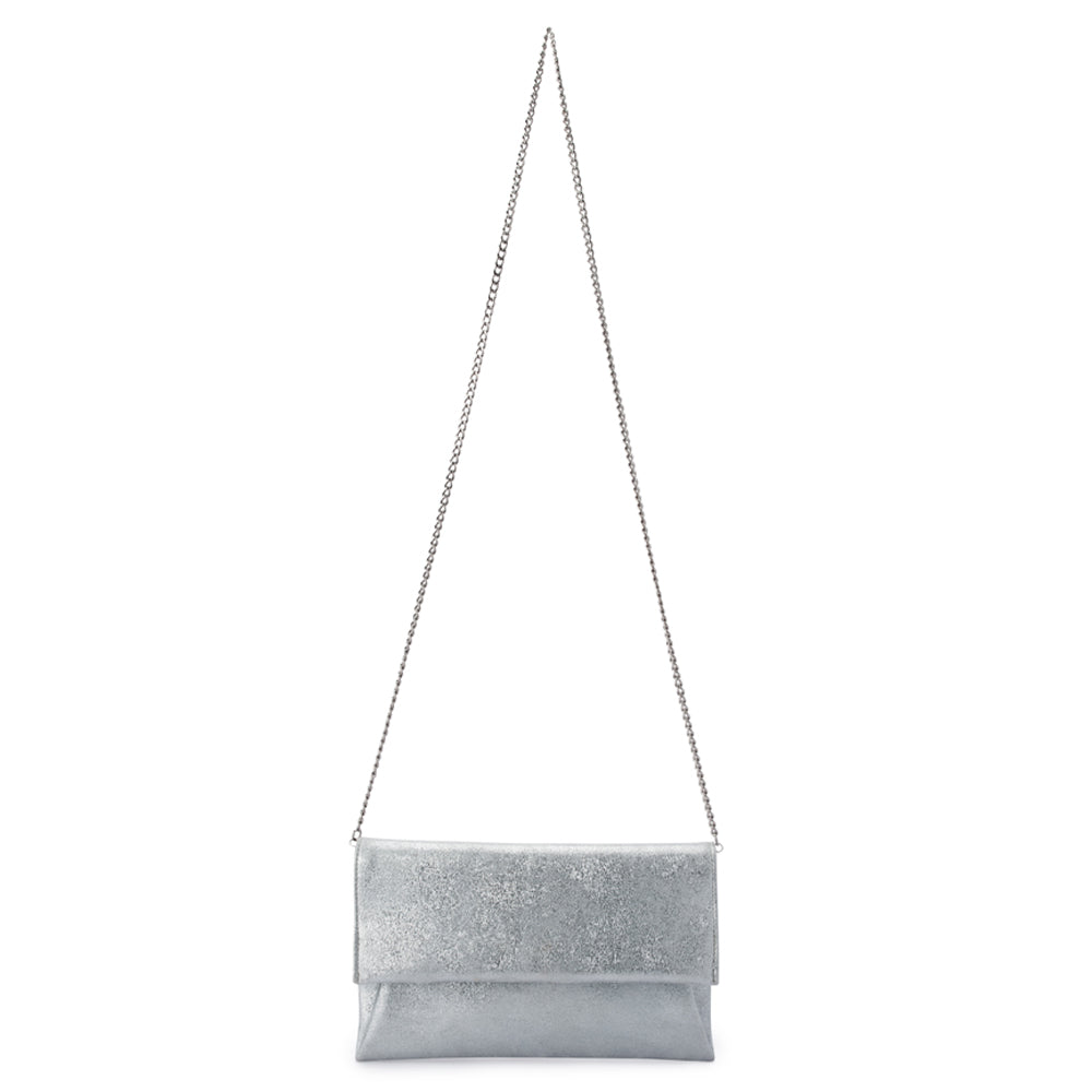 65032b80923 Brooke Soft Silver Envelope Clutch Chain View