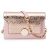 Mckenzie Blush Shoulder Bag Metallic Up Close Front View