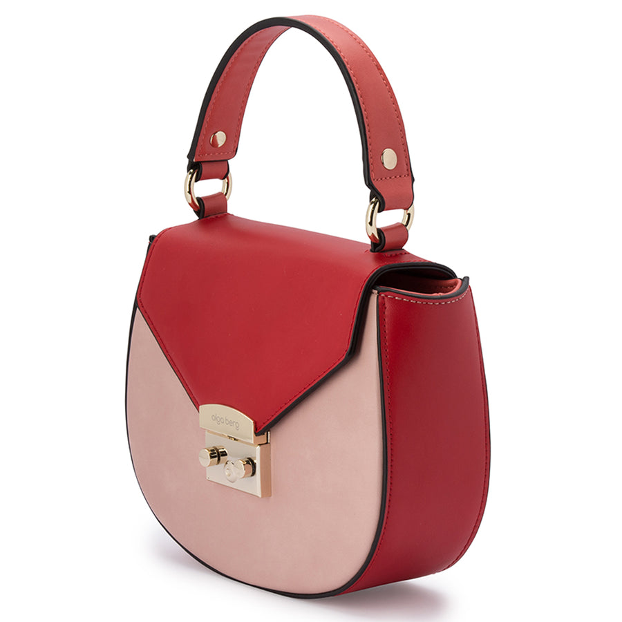 VIRGINIA Three Toned Top Handle-Bag-Olga Berg