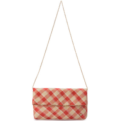 TAYLOR Straw Plaid Fold Over Clutch-Bag-Olga Berg