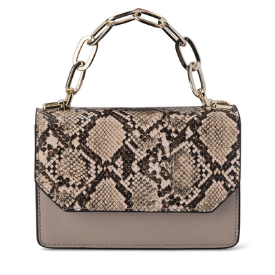 Olga Berg SAVANNAH Snake Print Shoulder Bag