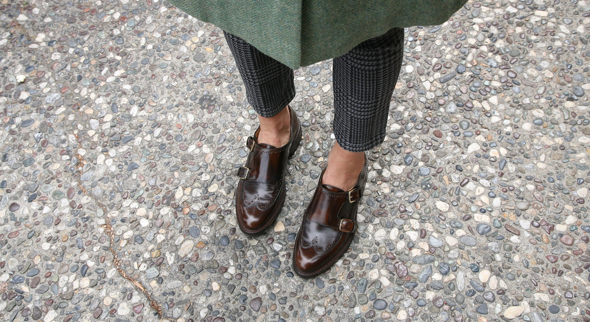 Mr  York Brown Leather Womens Double Monkstrap Oxford – The