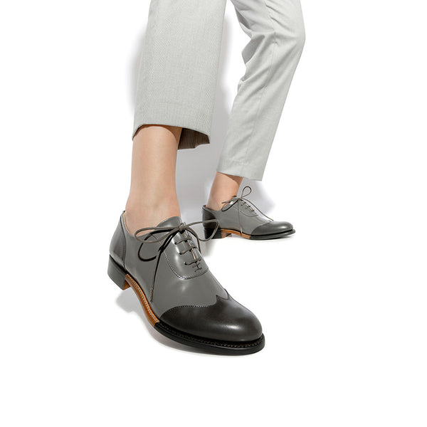 db6600ab8c0 Mr. Evans Grey on Grey Wingtip Women's Oxford