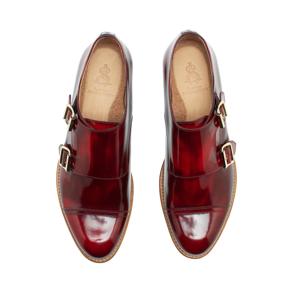 Mr. Colin Red Leather Women's Double Monkstrap Oxford