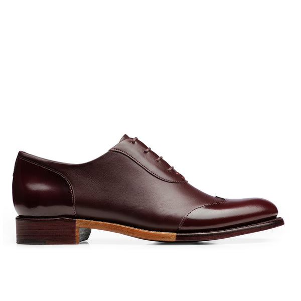 Mr. Evans Bordeaux Leather Women's Wingtip Oxford