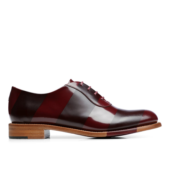 Mr. Smith Bordeaux Striped Women's Oxford