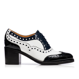 Mrs. Doubt Brogue Mid Heel