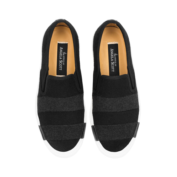 the Hammonds Black Wool Women's Slip On Sneaker