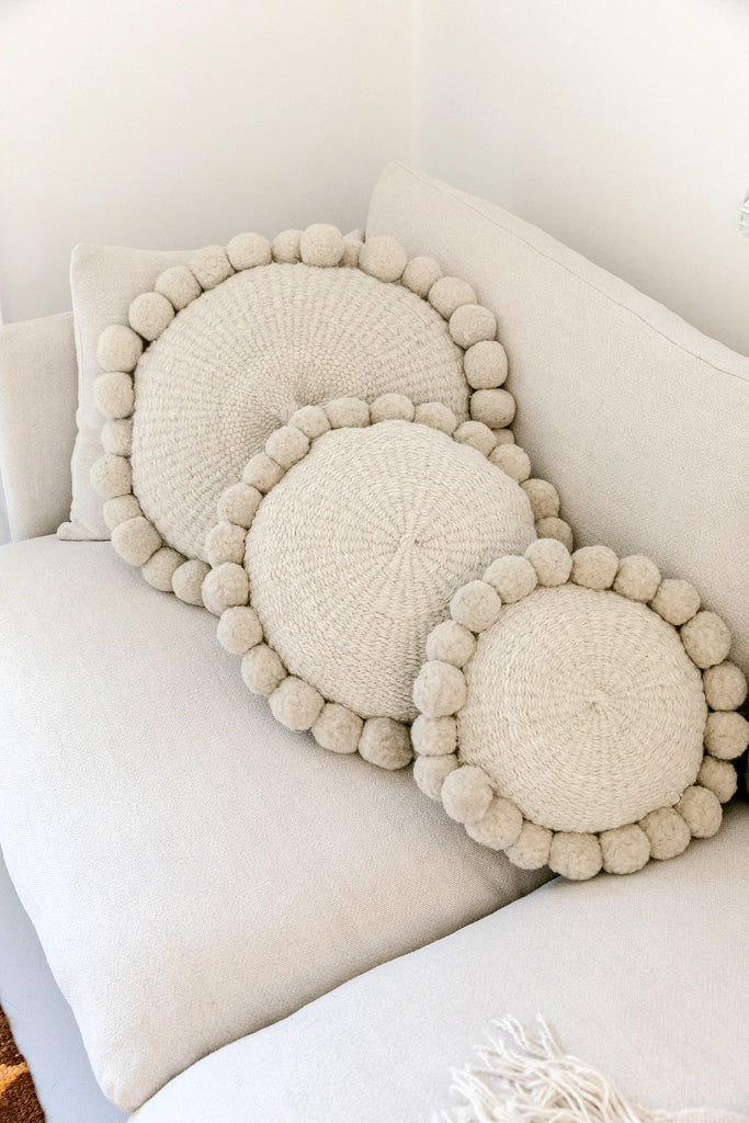 Monte Pom Pom Cushion #1 Medium| Natural