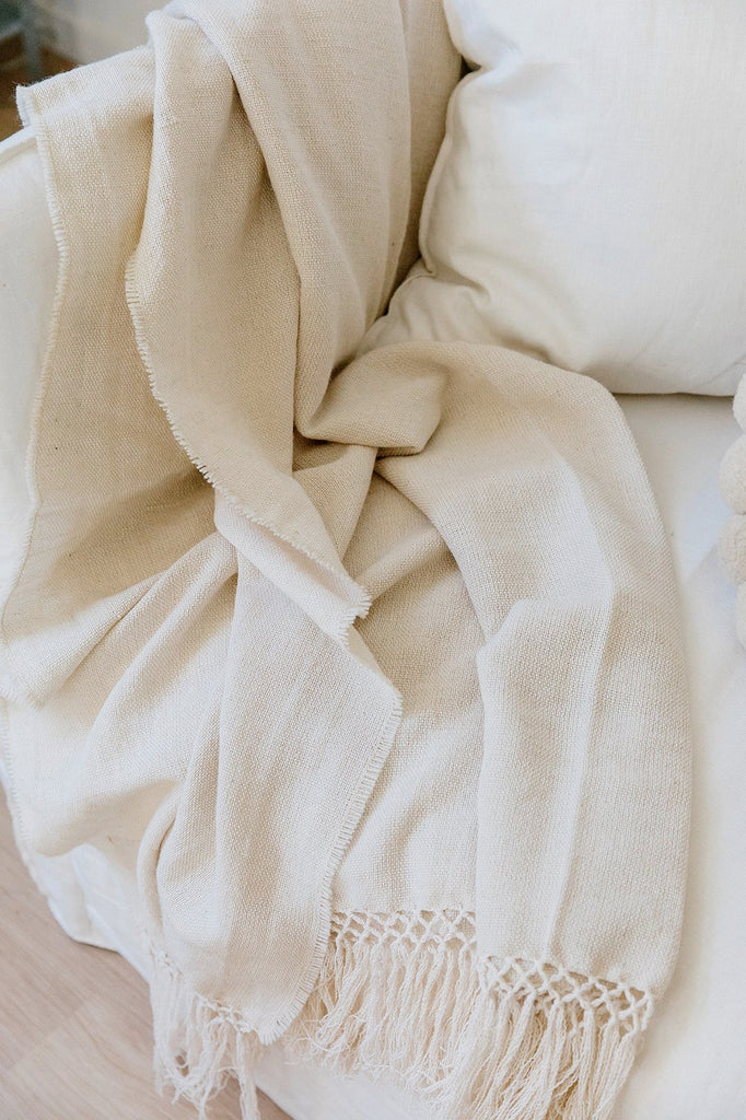 Puna Blanket | Natural White