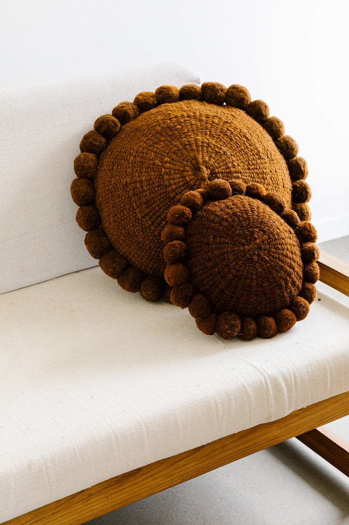Monte Pom Pom Cushion #1 Large | Rust