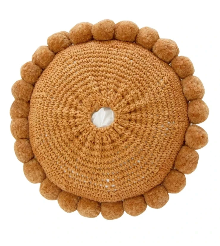 Monte Pom Pom Cushion #1 Medium | Desert