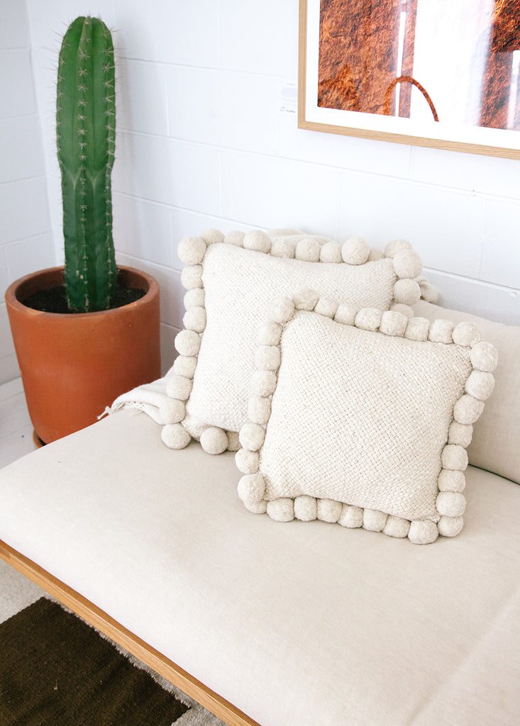 Monte Pom Pom Cushion #2 Medium | Natural