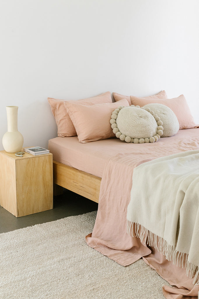 Linen Fitted Sheet | Clay