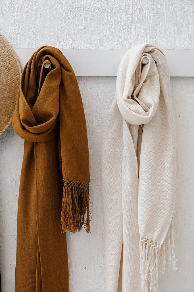 Pampa Cotton Oversized Scarf | Natural