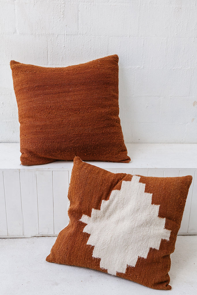Puna Floor Cushion #2 | Rust & Natural