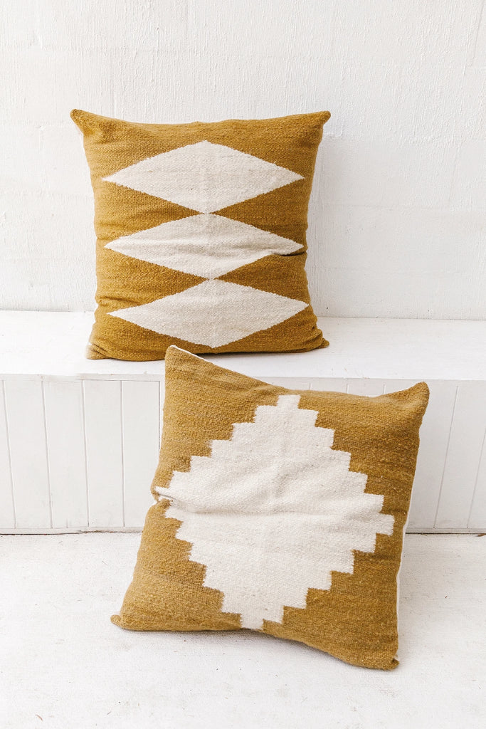 Puna Floor Cushion #2 | Camel & Natural