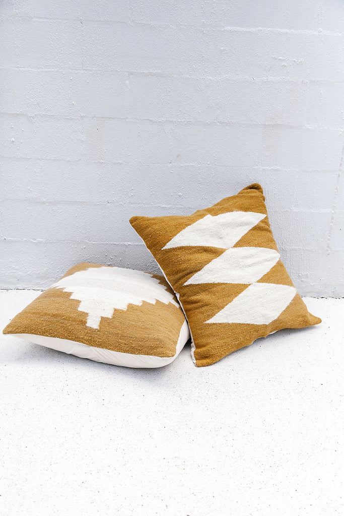 Puna Floor Cushion #3 | Camel & Natural