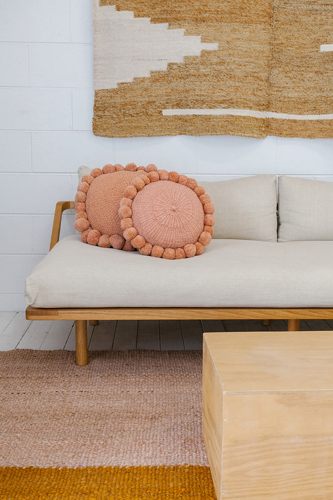 Monte Pom Pom Cushion #1 Medium | Desert Rose