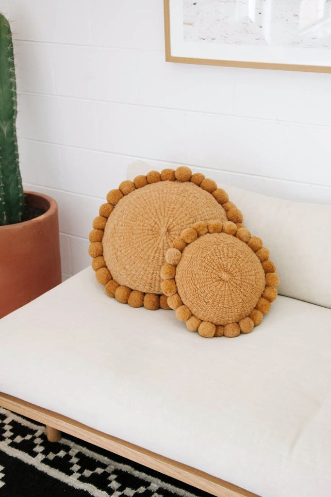 Monte Pom Pom Cushion #1 Mini | Desert