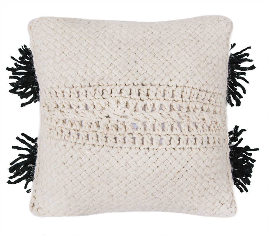 Monte Cushion #10 | Natural & Black