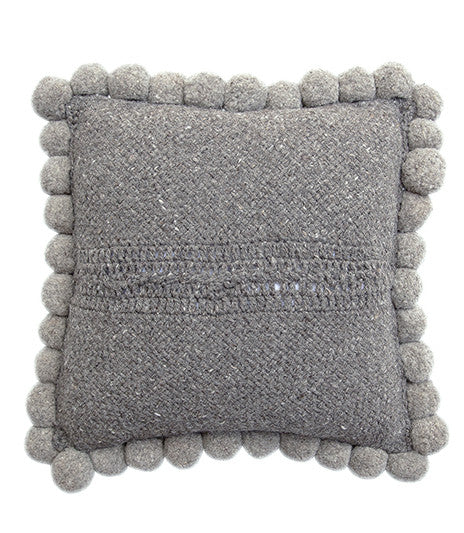 Monte Pom Pom Cushion #2 Large | Grey