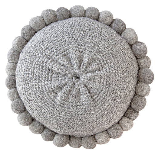 Monte Pom Pom Cushion #1 Large | Grey