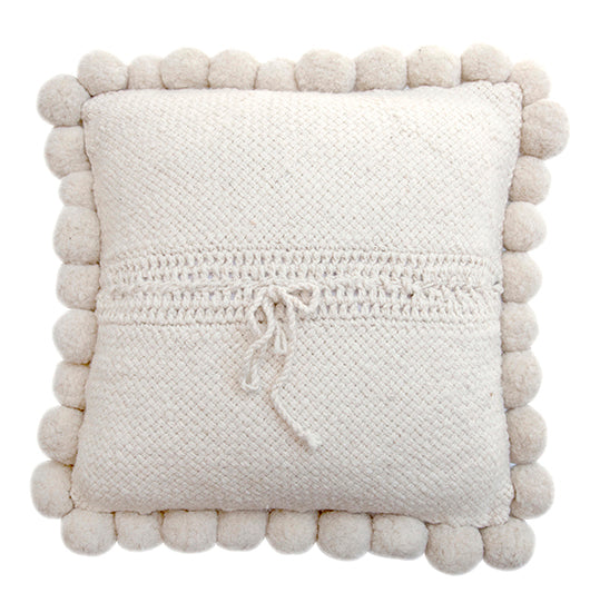 Monte Pom Pom Cushion #2 Large | Natural