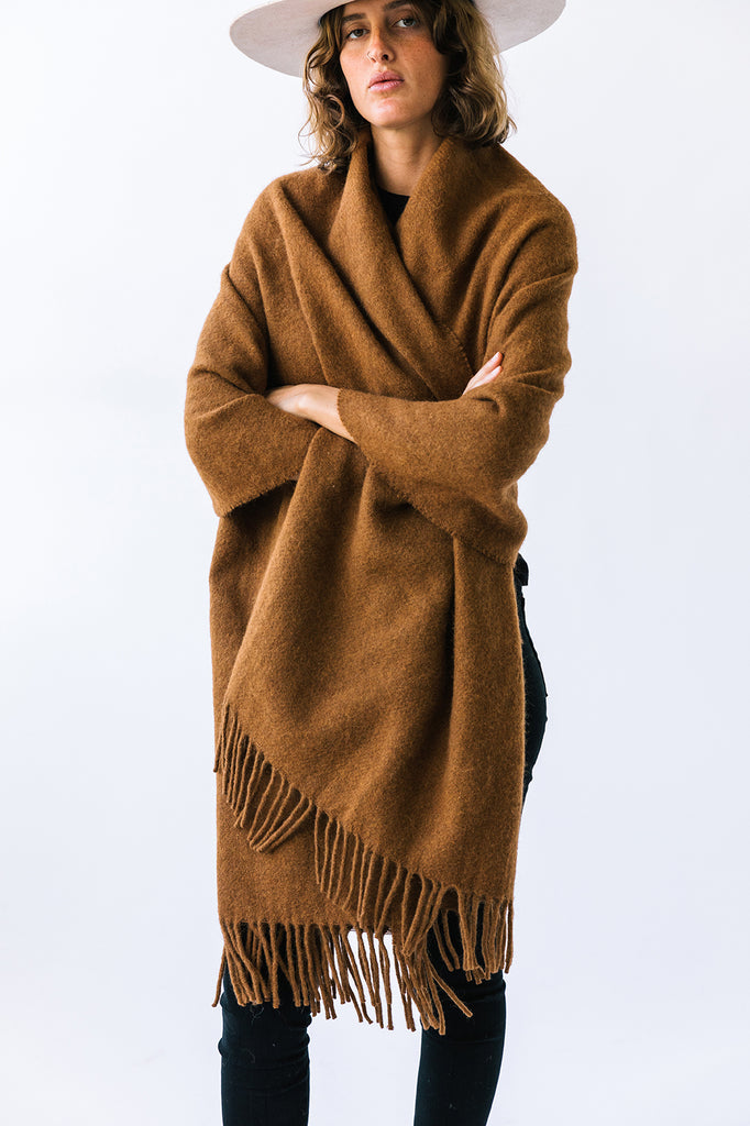 Pampa Oversized Scarf | Tobacco