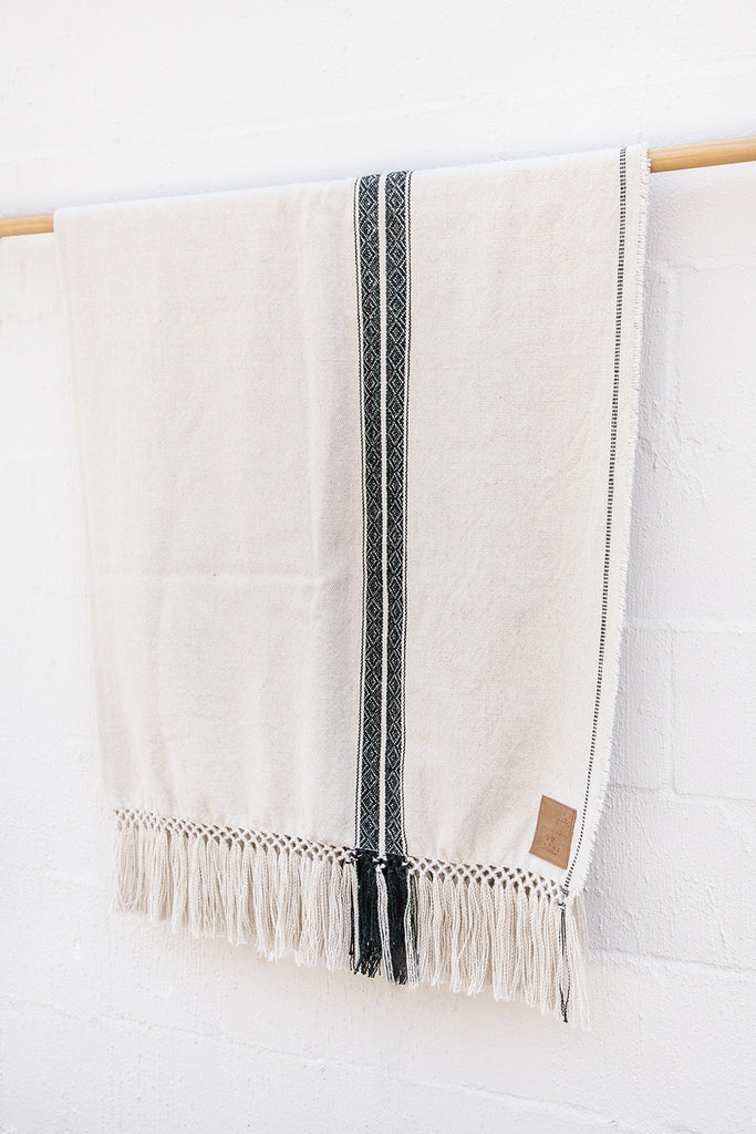 Andes Throw | Black on White