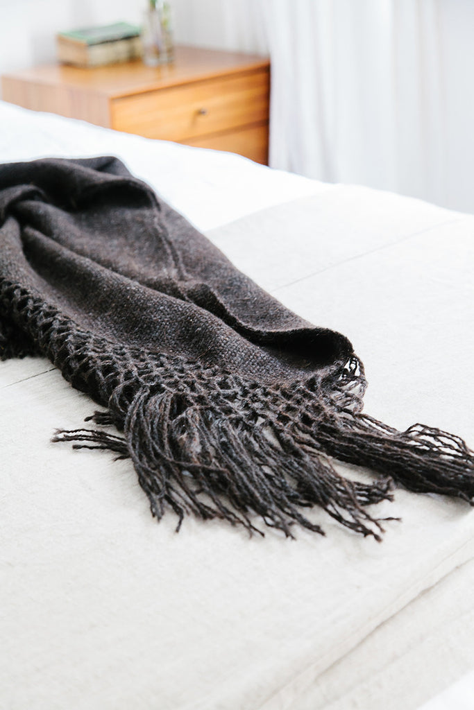Puna llama throw / Black