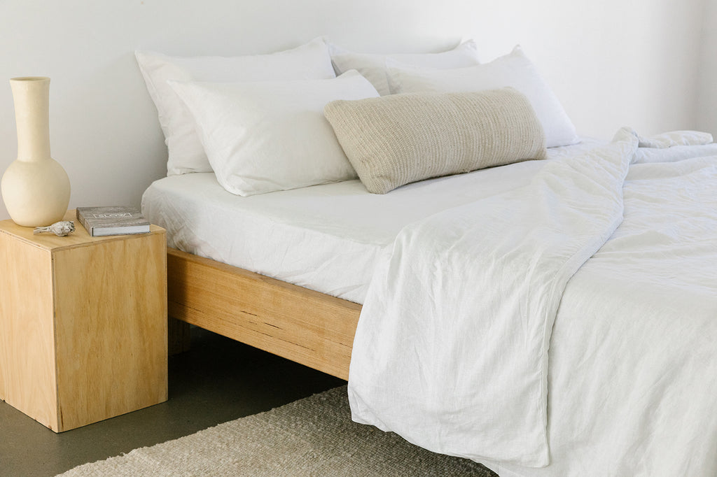 Linen Fitted Sheet | White
