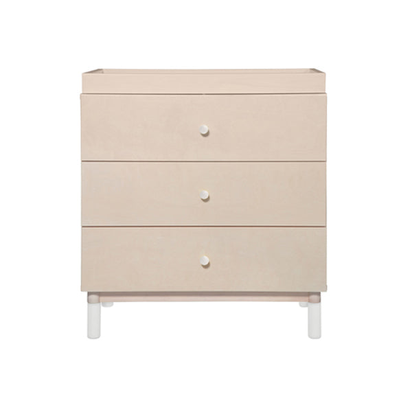 Babyletto - Gelato 3 Drawer Changer / Dresser - Washed Natural/White