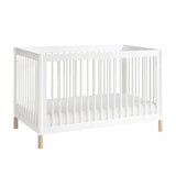 Babyletto Gelato Cot & Dresser Nursery Package - White with Washed Natural Feet