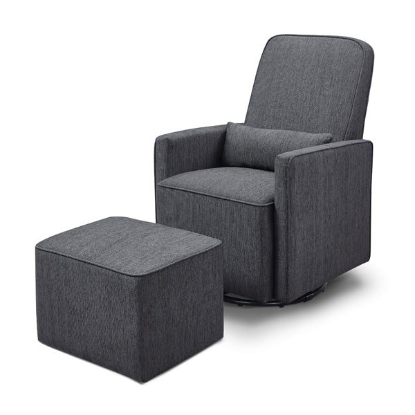 Olive - Swivel Glider + Ottoman - Midnight Grey