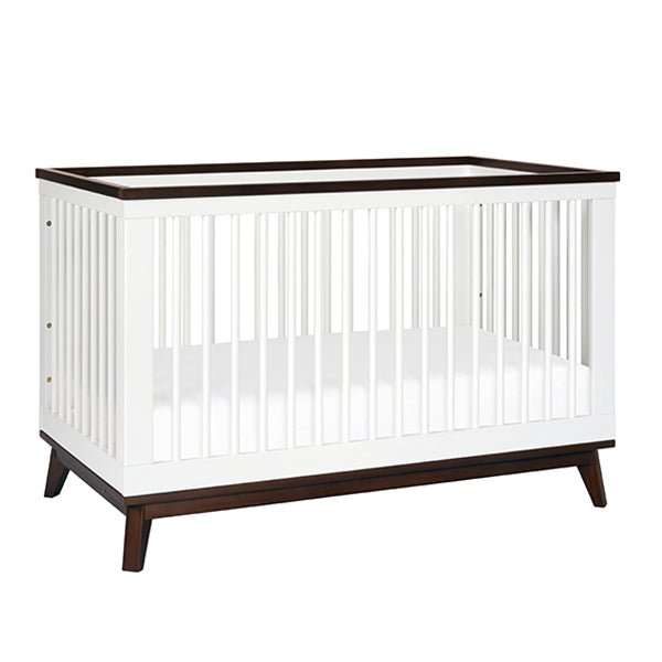 Babyletto Scoot Cot & Dresser Nursery Package - White & Walnut