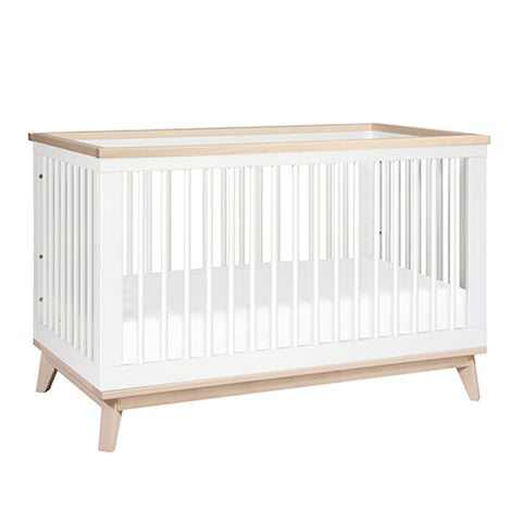 Babyletto Scoot Cot & Dresser Nursery Package - White / Washed Natural