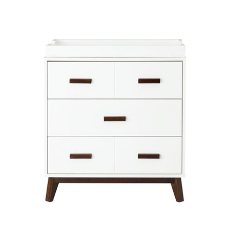 Babyletto - Scoot 3 Drawer Changer / Dresser - White/Walnut