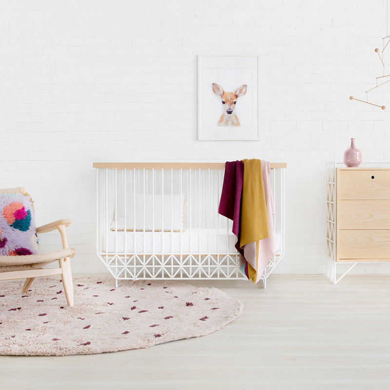 Mod Cot & Dresser Nursery Package