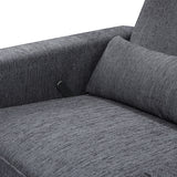 Piper - Recliner + Swivel Glider - Midnight Grey