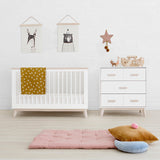 Babyletto - Scoot 3 in 1 Cot - White/Washed Natural